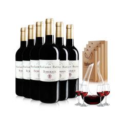 法国原瓶原装进口巴图波尔多干红葡萄酒整箱