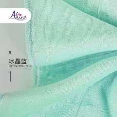 Alina泰国天然乳胶毛巾儿童成人防螨抗菌家用洗脸软毛巾三条装T268(26cm*38cm)