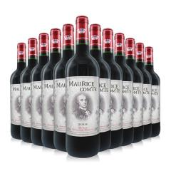 酒庄直供法国原瓶进口14度红酒 莫里斯伯爵干红葡萄酒*12支