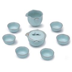 金镶玉 功夫茶具 素心莲 陶瓷茶壶茶杯整套茶具套装