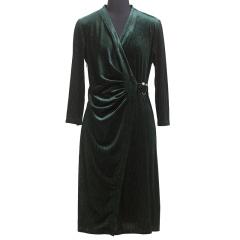 CELLE西琳优雅丝绒连衣裙