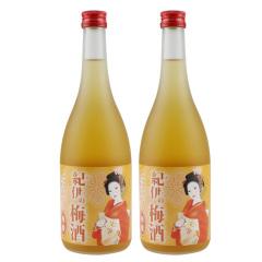 日本进口纪伊蜂蜜梅酒730ml两瓶装