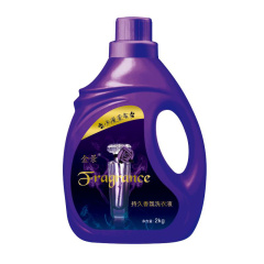 家庭装手洗机洗全效去渍洗衣液 薰衣草香味持久组合装2kg瓶装500g1袋