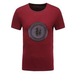 皇家棕榈马球俱乐部 男士短袖休闲圆领印花T恤男T恤13522325