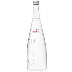 法国进口 依云(evian)天然矿泉水 玻璃瓶750ml *12瓶 整箱装