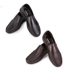凯撒男士头层牛皮时尚休闲鞋