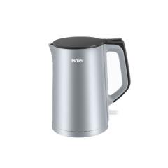 Haier/海尔电热水壶家用304不锈钢自动断电学生宿舍保温热水瓶双层防烫灰色电水壶 K1-C01S