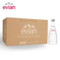 法国进口 依云(evian)天然矿泉水 玻璃瓶330ml *20瓶 整箱装