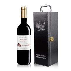 法国红酒巴菲太太波尔多干红葡萄酒单支礼盒套装