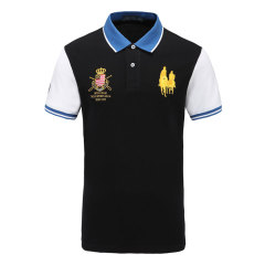 皇家棕榈马球俱乐部 男短袖商务休闲POLO衫翻领男士T恤13528103