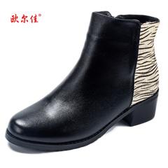 欧尔佳羊皮马毛高端女靴