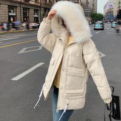 2019冬季新款韩版棉衣女中长款棉衣女式羽绒棉服加厚修身棉袄外套