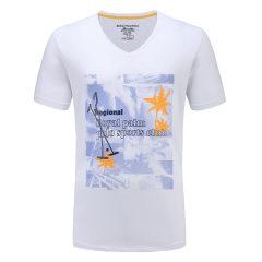 皇家棕榈马球俱乐部 男士短袖休闲V领印花T恤男T恤13522309