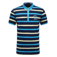 皇家棕榈马球俱乐部 男短袖条纹休闲POLO衫翻领男士T恤13524101