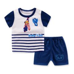 童非得衣  儿童短袖T恤纯棉男女童夏款套装宝宝短袖短裤两件套童装