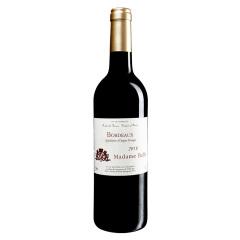 法国红酒巴菲太太波尔多干红葡萄酒单支装 波尔多产区酿制