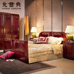 允典海棠花系列红木卧室5件组