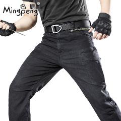 名鹏(Mingpeng) 执政官户外破锋者战术弹力牛仔裤休闲耐磨多兜裤多功能工装裤男