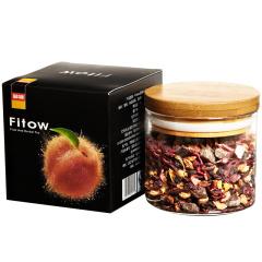 Fitow 菲特 蜜桃冰淇淋水果茶 花果茶 蜜桃奶油口味 果粒茶 果味茶 100克/罐