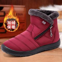 雪地靴女2020冬季新款靴子跨境聚氨酯软底棉鞋加厚保暖休闲妈妈鞋M10