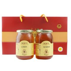 西班牙原装进口布罗家族精装礼盒柠檬+橙花500g二瓶装