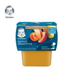 【促销】(10月到期)嘉宝2段杏子混合水果泥 112g/一组两盒*3组/香港直邮