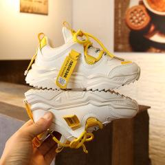jugo儿童运动鞋2019年春秋新款拼色跑步休闲鞋男童女童鞋两色防滑
