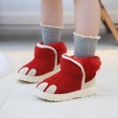 女童大棉靴子2019年冬季新款儿童雪地靴加绒加厚保暖女孩公主短靴