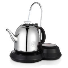 欧博(OPO)S101 自动上水电热水壶 加抽水器茶具电茶壶304不锈钢烧水壶经典黑