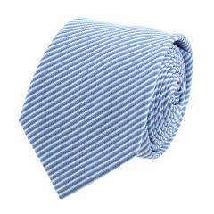 VALENTINO/华伦天奴 宝石蓝底白色条纹英伦系列7.5cm男士真丝领带 VA75LS 984V