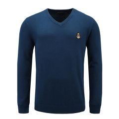 男士长袖纯色V领毛衫打底套头针织衫33637101