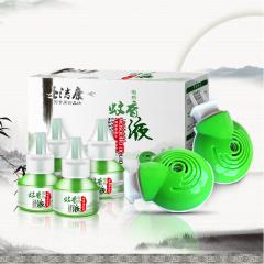 圣洁康电热蚊香液 4瓶套装孕妇婴儿驱蚊液液体无味灭蚊水送2个加热器