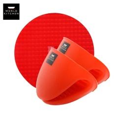 美国康宁防烫硅胶手套+硅胶锅垫PL-SILMAT/CN+ PL-SILMIT/CN