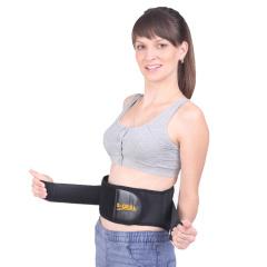 秋冬季腰部保暖护腰带钢板自发热黑色固定支撑矫正男女士保健护具
