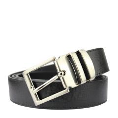 范思哲男士黑色格纹可裁剪亚光针扣腰带 V91008S VM00043 V000