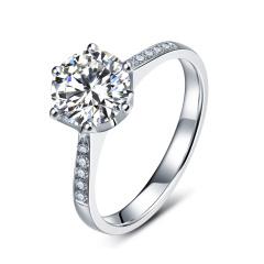 芭法娜  Foever love 0.5ct/1粒 E色 SI1 铂金Pt950钻石戒指 订婚结婚