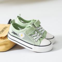 贝贝    2020春夏季新款小雏菊帆布鞋女 学生透气网面板鞋女 GD帆布小白鞋