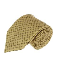 FENDI芬迪 黄色底LOGO刺绣领带 7510UD790.700