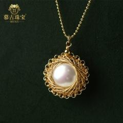 慕古 【一带一路外销款】时尚手工设计款珍珠项链
