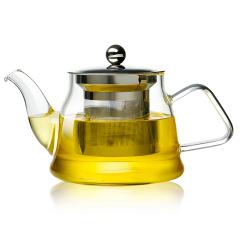 金镶玉 钢胆茶海壶 耐热玻璃防爆茶壶高硼硅