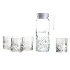 SIMELO首尔风情下列多彩夏季健康玻璃冷水壶一壶四杯组