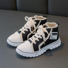 儿童短靴2019年秋冬新款系带靴子男童女童休闲潮英伦风学生鞋春