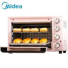 美的 35升大容量家用多功能电烤箱机械式操控上下独立控温旋转烧烤烘烤面包蛋挞隔热聚能面板钻面反射内腔