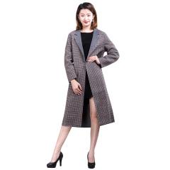 CELLE格纹双色羊毛大衣  货号123749