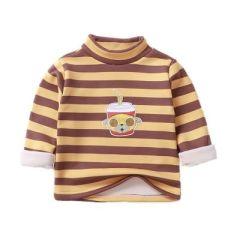 2020童装冬款儿童加绒卫衣男女童高领儿童打底衫冬季保暖上衣韩版