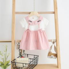 菲儿小屋  2020春夏新款连衣裙可爱女宝宝童女童裙套装