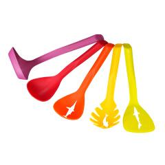 SIRONI斯罗尼炫彩铲勺五件套 尼龙材质 勺子厨房小工具耐用炊具