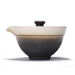 金镶玉 旅行功夫茶具 悠然快客杯 一壶两杯套装陶瓷便携茶杯