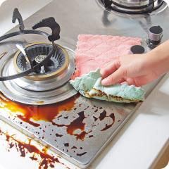 【超值10条装】斜月三星洗碗布抹布擦手巾不沾油不掉毛厨房毛巾