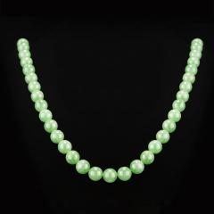 满绿大串珠翡翠项链